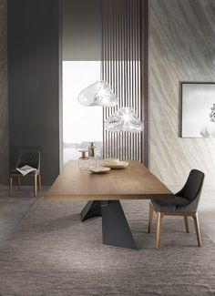 Long Table Interior Our Home Cafe! Long Dinning Table, Glass Dinning Table, Dinning Table Design, Kitchen Table Chairs, Dining Room Table Decor, Wooden Dining Tables, Modern Dining Table, Dinner Tables Furniture, Esstisch Design