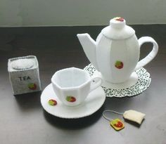 Felt Patterns - Tea Pot Tea Cup Pretend Play Tea Set (Patterns and Instructions via Email)