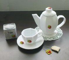 Felt Patterns - Tea Pot Tea Cup Pretend Play Tea Set (Patterns and Instructions via Email)