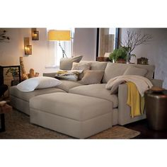 """Lounge 93"""" Sofa. It's a good thing we don't have this or I would never leave..."""
