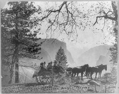 President Roosevelt and party, Inspiration Point, Yosemite Valley, California