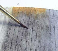 Making Styrene Look Like Aging Wood
