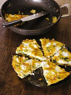 Spinach, Bacon, and Goat Cheese Frittata : Recipes : Cooking Channel---made this for dinner last night and it was delish!!