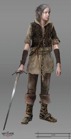 Ciri as a child - The Witcher 3: The Wild Hunt. Concept Art.