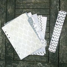 A5 Filofax dividers  set of 6 tabs on right by JustKeepPinning, £8.00