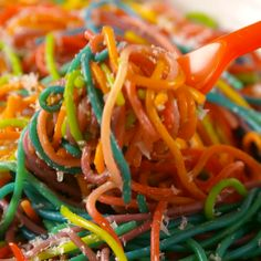 The most colorful way to eat spaghetti