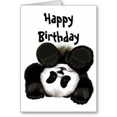 birthday panda card Happy Birthday Quotes, Happy Birthday Wishes, Panda Birthday, 9th Birthday, Birthday Ideas, Panda Party, Valentines Design, Cute Panda, Animal Cards