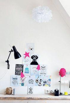 Kerstboom van mooie prints - Kijk op www.101woonideeen.nl #tutorial #howto #holidayseason #christmas #DIY #decoration #xmas