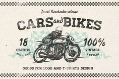 Hand drawn Cars and Bikes