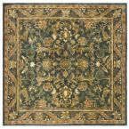 Antiquity Blue/Gold 8 ft. x 8 ft. Square Area Rug