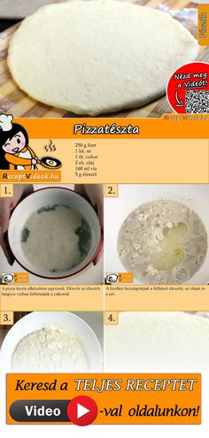 Pizza dough Do you want to make your own pizza today? No problem, because our pizza dough recipe is super easy. The pizza dough recipe video is easy to find using the QR code 🙂 dough Pizza Hut, Pizza Dough, Pate A Pizza Fine, Pizza Cool, Make Your Own Pizza, Dough Recipe, Finger Foods, Food Videos, Recipe Videos