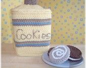 Crochet Cookie Canister and Cookies...PDF Pattern
