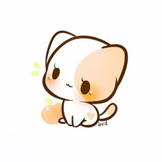 Drawing of an animal baby peaches cute cat drawing cute animal drawings kitten drawing easy drawing . Anime Chibi, Kawaii Anime, Kawaii Chibi, Kawaii Cat, Cute Chibi, Chibi Dog, Kawaii Alpaca, Cute Kawaii Animals, Cute Animal Drawings Kawaii