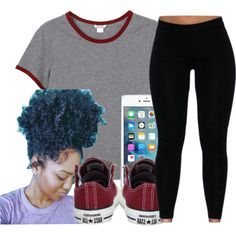 Untitled #423 by oh-thatasia on Polyvore featuring Monki and Converse