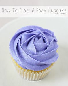 How to Frost a Rose Cupcake – learn how to frost a beautiful rose cupcake with this easy video tutorial. #howto #rosecupcake #cupcakes #tutorials #videotutorials #rosecupcakes #howtofrostarosecupcake #cupcake #buttercream #frosting