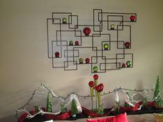 Contemporary Christmas wall decor