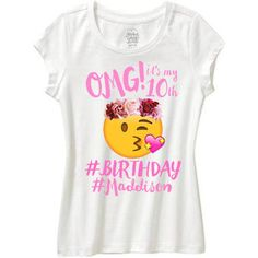 Emoji Birthday Shirt Omg Its My Girls Flower