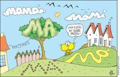 #nik #gaturro Spanish Memes, Spanish Teacher, Mother And Father, Peanuts Comics, Humor, Reading, Fictional Characters, Art, Language