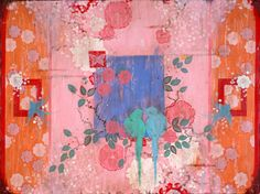 """Kathe Fraga paintings, inspired by the romance of vintage Paris and Chinoiserie Ancienne. """"La Fete"""". 36x48 on frescoed canvas. www.kathefraga.com"""