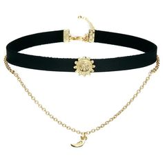 ASOS Sun & Moon Choker Necklace ($13) ❤ liked on Polyvore featuring jewelry, necklaces, accessories, chokers, gold, yellow gold necklace, gold jewellery, asos necklace, asos jewelry and yellow gold jewelry