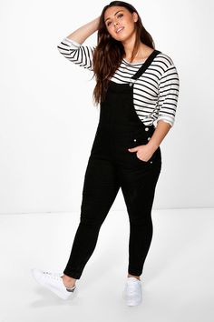 Plus Allie Cross Back Dungaree at boohoo.com - Inspiration for making the Mila dungarees