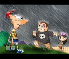 Fight by LoveyLoo Phineas Und Ferb, Deviantart, Memes, Board, Funny, Quotes, Anime, Serif, Gatos