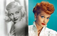 Lucille Ball - Photo: Corbis; Getty Images             Gutsy move from platinum blonde to vibrant red!    But excellent choice for a style that suits her and not bad for her career!