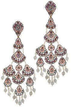 xl chandelier ohrringe gold filled feminin rosa labradorit glamour elegant
