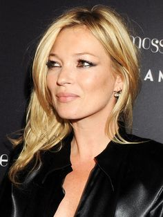 KATE MOSS, 2010-I am trying this subtle cat-eye this holiday season!!!