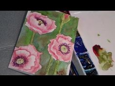 The Frugal Crafter Watercolor Tutorials on YouTube - Poppies