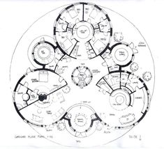 'Trihouse' The drawings below represent a number of designs for some Sacred Geometry Homes - designed and hand drawn by Michael Architecture Durable, Architecture Drawings, Concept Architecture, Sustainable Architecture, Architecture Design, Geometry Architecture, The Plan, How To Plan, Plan Plan