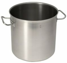 Sitram Profiserie 16.5 Liter Commercial Stainless Steel Stockpot by Sitram. $151.50. High-quality 18/10 stainless steel (18% chrome, 10% nickel). 11-inches in diameter by 11- inches high. Large enough to simmer 4 gallons of stock, soup, stew, or pasta sauce. 1/4-inch aluminum bottom sandwiched by stainless steel for heat conductivity. Large stainless-steel handles welded to pot prevent inside food traps. Amazon.com                French manufacturer Sitram prod...