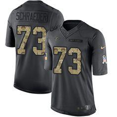 cheap nike limited youth ryan schraeder black jersey nfl 73 atlanta falcons 2016 salute