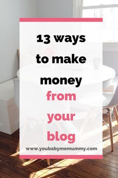 13 Ways To Make Money From Your Blog - Tap the link now to Learn how I made it to 1 million in sales in 5 months with e-commerce! I'll give you the 3 advertising phases I did to make it for FREE!