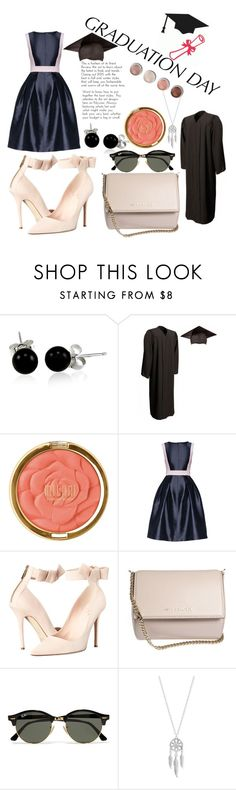 """Graduation Day"" by minervapg ❤ liked on Polyvore featuring Bling Jewelry, Milani, Lattori, Kate Spade, Givenchy, Ray-Ban, Lucky Brand, Terre Mère and graduationdaydress"