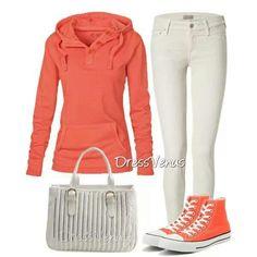 Comfy outfit minus high top converse maybe peach flat?!?