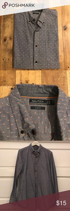 NAUTICA Men's Casual Button Down, Size Medium. NAUTICA Men's Casual Button Down, Size Medium. Nautica Shirts Casual Button Down Shirts
