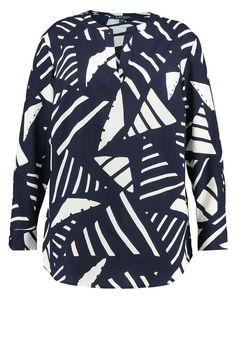 Lauren Ralph Lauren Woman MARLEN Bluse navy/antique ivory Premium bei Zalando.de | Material Oberstoff: 100% Polyester | Premium jetzt versandkostenfrei bei Zalando.de bestellen!