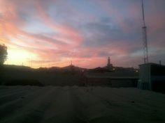 En #Coquimbo una vista desde mi casa, se alcanza a ver la #Mezquita y #LaCruzDelTercerMilenio.