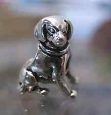 LOOK Dog puppy Charm bead jewelry Sterling Silver .925