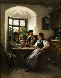 Bayerische Wirtsstube, 1897 by Rudolf Epp (1834-1910)