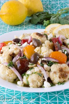 Mediterranean Roasted Cauliflower Salad