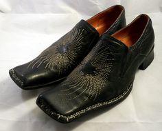 ROBERT WAYNE Shoes - Black Sunburst Loafers - Sz 11 M #RobertWayne #LoafersSlipOns