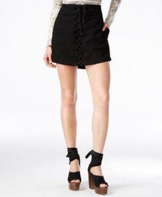 Free People Walk My Way Lace-Up Mini Skirt - Skirts - Women - Macy's