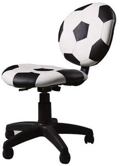 Make homework time more fun with the Acme Furniture All Star Youth Soccer Ball Desk Chair . This soccer themed desk chair features a pneumatic life for. Kids Sports Bedroom, Football Bedroom, Acme Furniture, Bedroom Furniture, Furniture Design, Furniture Chairs, Office Furniture, Dining Chairs, Furniture Dolly