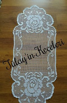 Şemantablomuz Lace Doilies, Crochet Doilies, Crochet Lace, Crochet Placemats, Crochet Table Runner, Filet Crochet Charts, Crochet Diagram, Unique Crochet, Cute Crochet