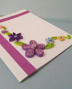 Tarjeta hecha a mano de flores quilled por ArthCreations en Etsy