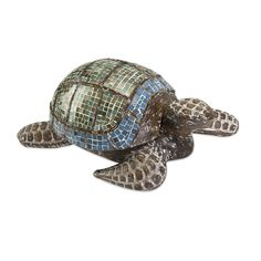 Talulah Carved Wood Mosaic Turtle as seen in the REA Awards winning Visual Display by Absolutely Fabulous! Page 60 of Gifts and Decorative Accessories August issue.
