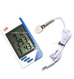เครื่องวัดความชื้นสัมพัทธ์และอุณหภูมิแบบดิจิตัล (Digital Thermometer & Hygrometer) พร้อมนาฬิกาบอกเวลา หน้าจอขนาดใหญ่ มีระบบการทำงานหลาย Function เหมาะสำหรับใช้ในโรงเรือนเพาะเห็ด และโรงเรือนอื่นๆ    http://www.ifarm.co.th/index.php?option=com_virtuemart=productdetails_product_id=84_category_id=8=199