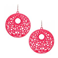 Cellular Earrings Neon Pink by Nervous System